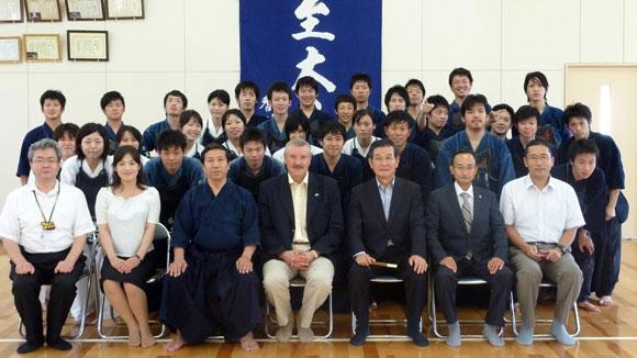 Kagawa University Kendo Club in Takamatsu, Japan